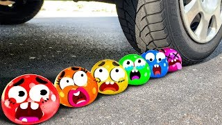 Download Crushing Crunchy & Soft Things by Car! - EXPERIMENT: DOODLES BALLOON VS CAR Mp3 and Videos