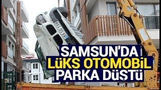 Samsun'da lüks otomobil parka düştü