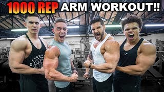 1000 REP ARM WORKOUT CHALLENGE! ... Extreme Motivation Needed! | Can You Beat Us?!