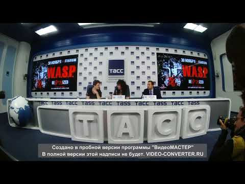 Press conference of Blackie Lawless (W.A.S.P.) in Moscow, ITAR, November 30, 2017