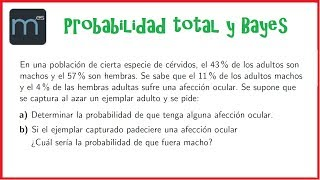 Teorema de la probabilidad total y Teorema de Bayes, probabilidad condicionada, sucesos