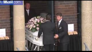 Mourners gather for funeral of Vivian, Lars and Annabelle Falkholt