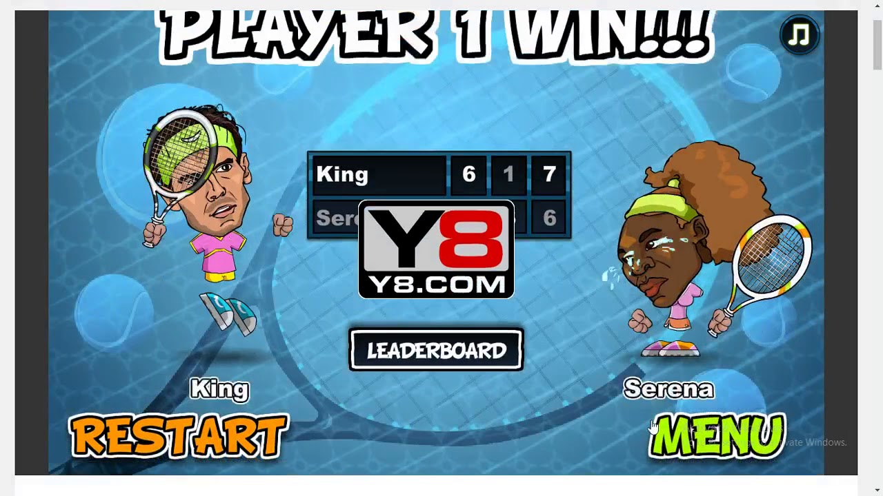 Y8 Games With Girlfriend Tennis Legends 2016 Youtube