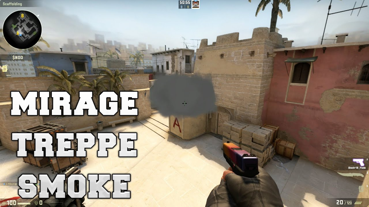 CS:GO   Smoke Tutorial #1   Mirage Treppe Bombsite A   YouTube