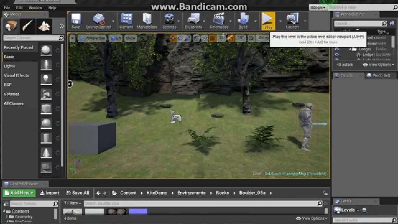 Unreal Engine 4 Absolute Beginner Tutorial Part 1a