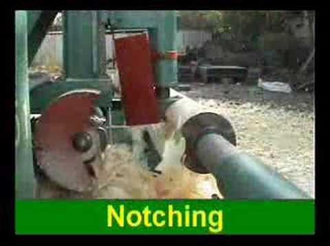 Log Lathe LL-41: Notching - YouTube