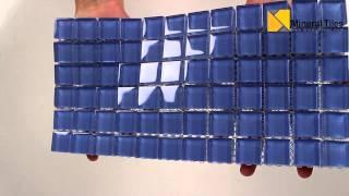 Glass Mosaic Tile Backsplash Breeze 1x1 - 101CHIGLABR133