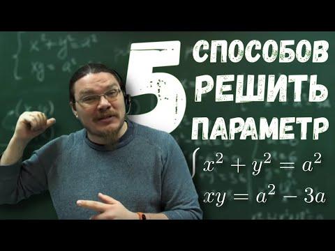 Пять способов решить задачу с параметром | ЕГЭ-2018. Задание 18. Математика | Борис Трушин |