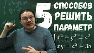 Пять способов решить задачу с параметром | ЕГЭ-2018. Задание 18. Математика | Борис Трушин !