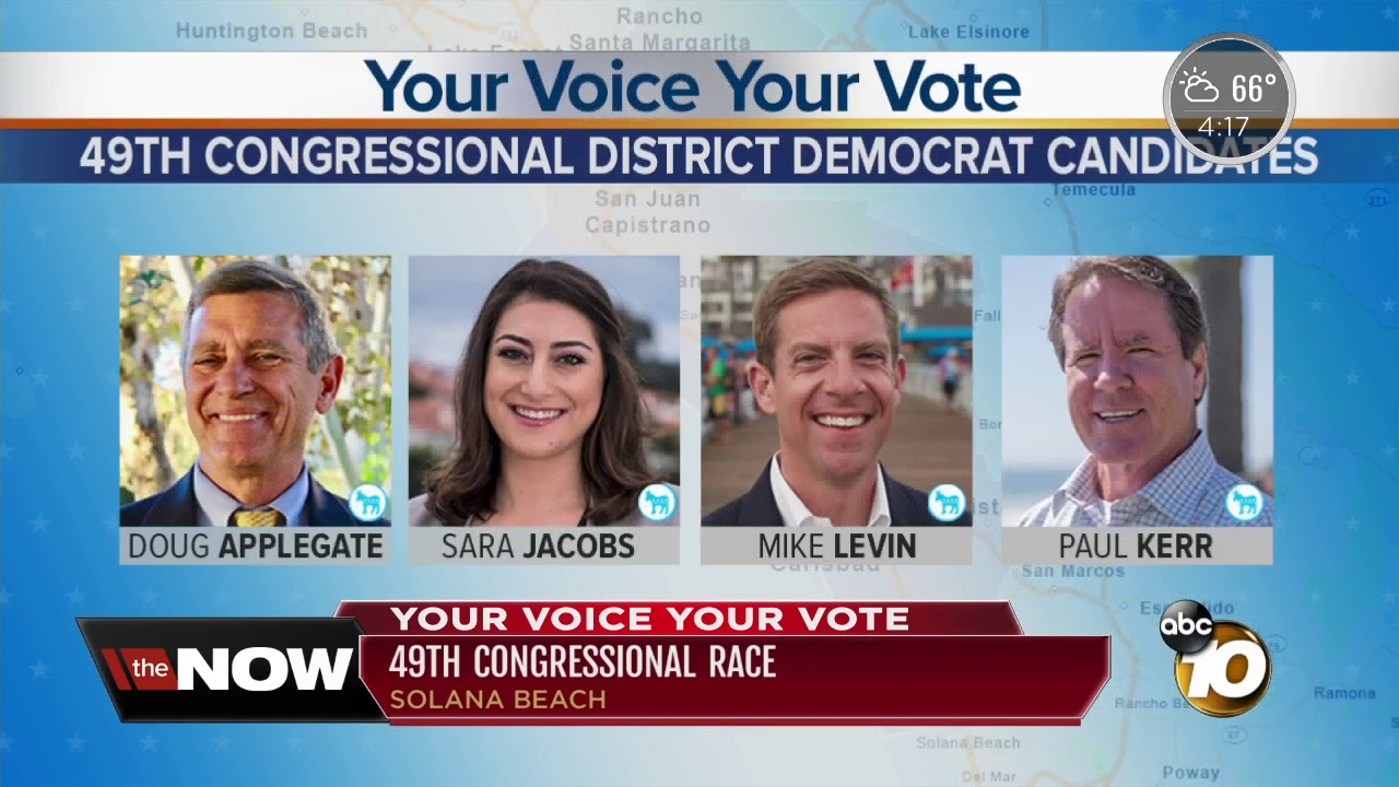 The red, blue battle for San Diego County's 49th Congressional seat
