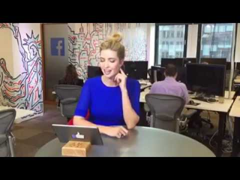 Ivanka Trump plays rapid fire questions at Facebook's new media center in New York