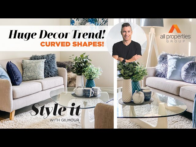 Curved shapes are a huge decor trend for 2020!   Style it with Gilmour   Episode 15.