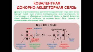 № 31. Неорганическая химия. Тема 4. Химическая связь. Часть 5. Ковалентная донорно-акцепторная связь