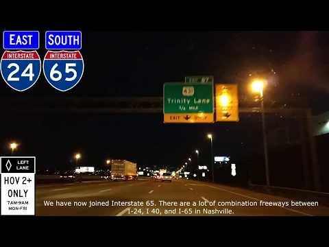 E3-14: I-24, I-40, I-65, Nashville at Night