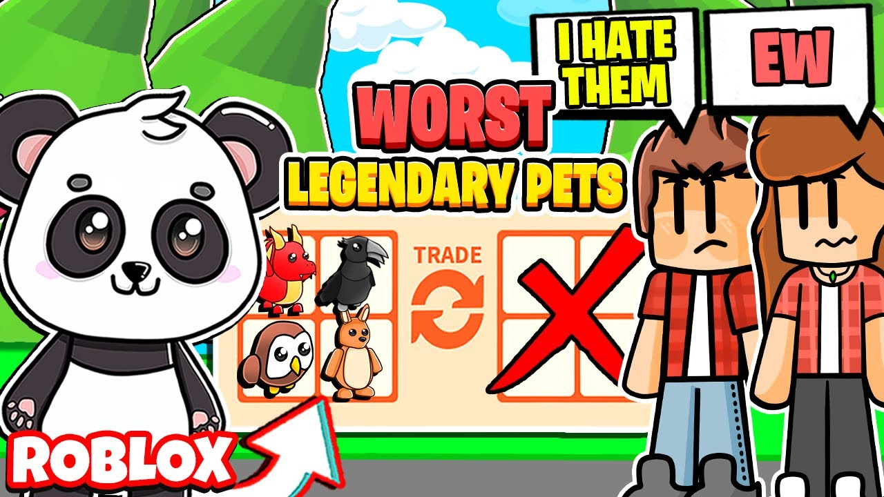 Trading the Most HATED Legendary Pets in Adopt Me! Roblox Adopt Me