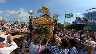 30年   羽田神社(羽田祭り)稲荷前町会神輿弁天橋の立派なパフォマンス(生)。