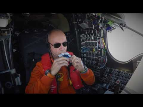 Piccard's world record solo flight across the Atlantic on a solar-powered aircraft