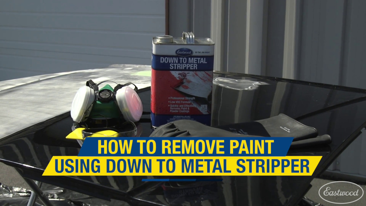 down to metal stripper how to chemically remove paint from a hood eastwood youtube. Black Bedroom Furniture Sets. Home Design Ideas