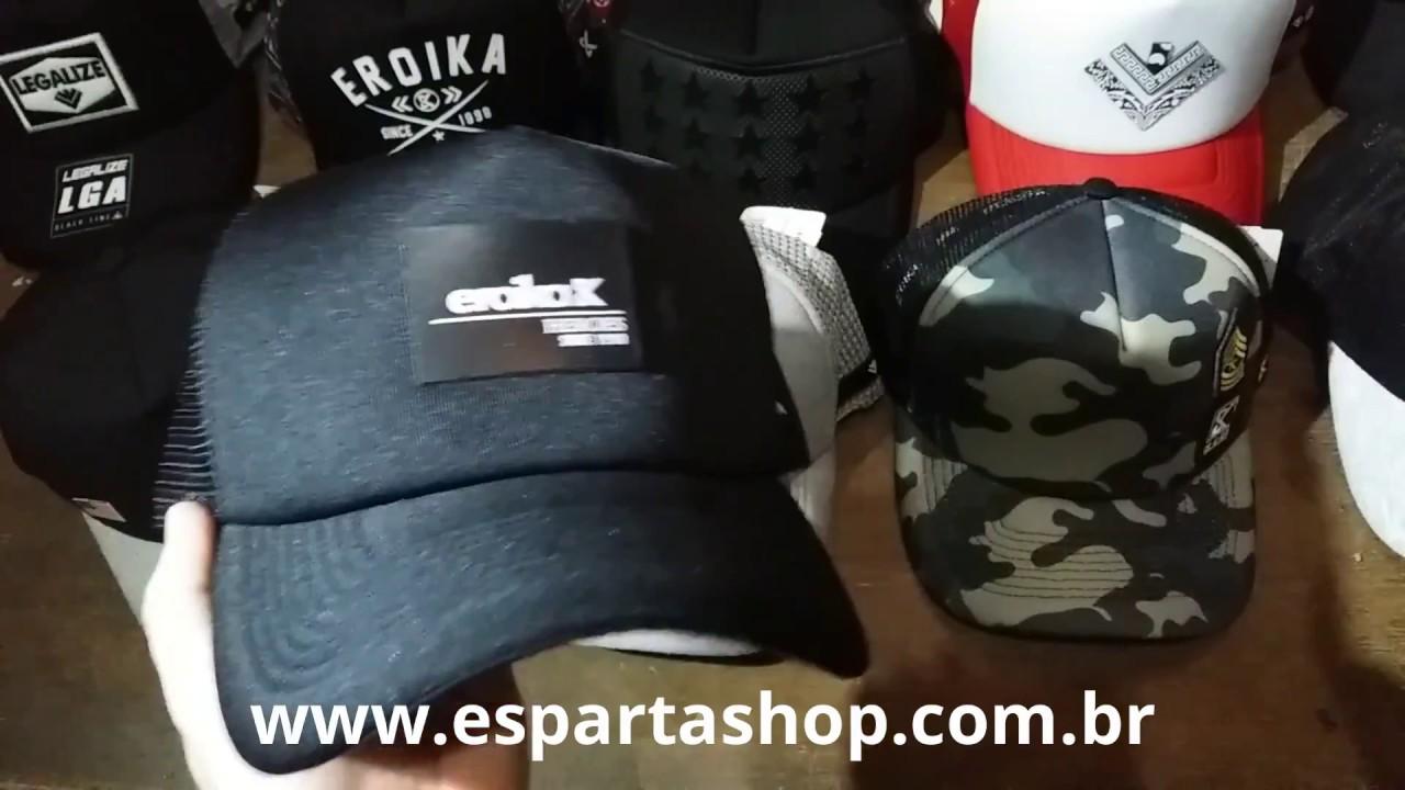 Boné Preto Aba Curva Eroika - 6648 - YouTube 8a3af976983