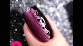 Floral and creative Model Nail polish design