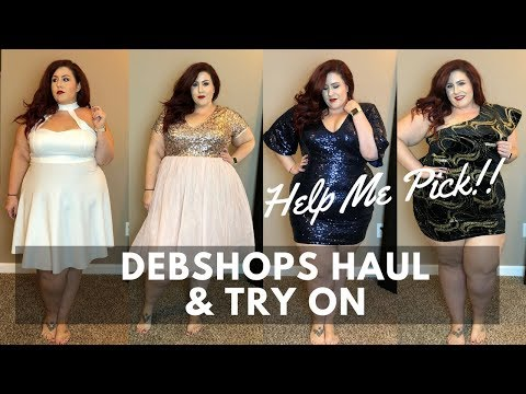 Help Me Pick Debshops Plus Size Holiday Dress Haul Try On