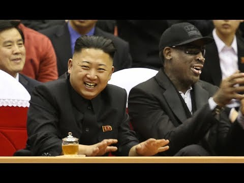 """Dennis Rodman Back in North Korea, Gives Trump's """"Art of the Deal"""" as Gift"""