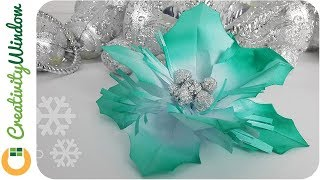 Paper Holly Leaves and Foil  Xmas Decoration