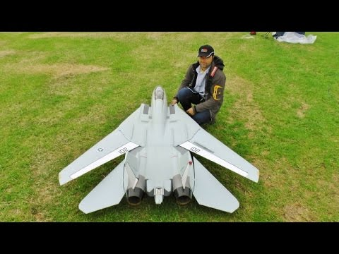 Thumbnail: ③ LARGE SCALE RC FLYEAGLE SWINGWING GRUMMAN F14 TOMCAT TWIN TURBINES WESTON PARK MODEL SHOW - 2016
