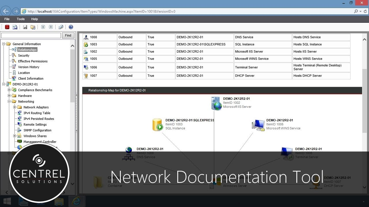 Network Documentation Tool - XIA Configuration Software