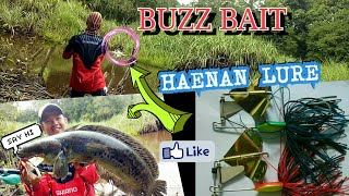 BUZZBAIT by HAENAN LURE-Mancing casting Toman MONSTER