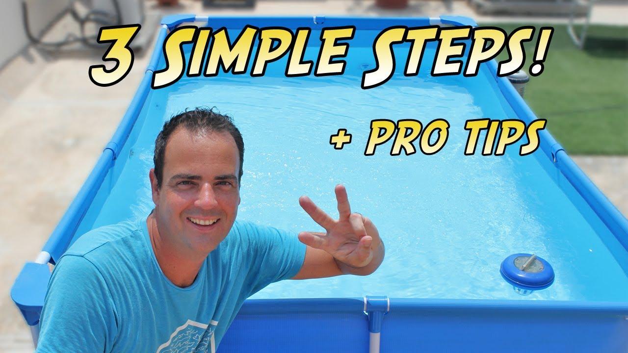 How To Keep Your Bestway Pool Clean | 3 Simple Steps | for Bestway Pool & Intex Pool