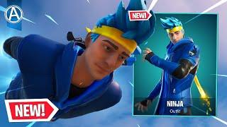 "NEW ""NINJA"" SKIN Gameplay! (Fortnite Battle Royale LIVE)"