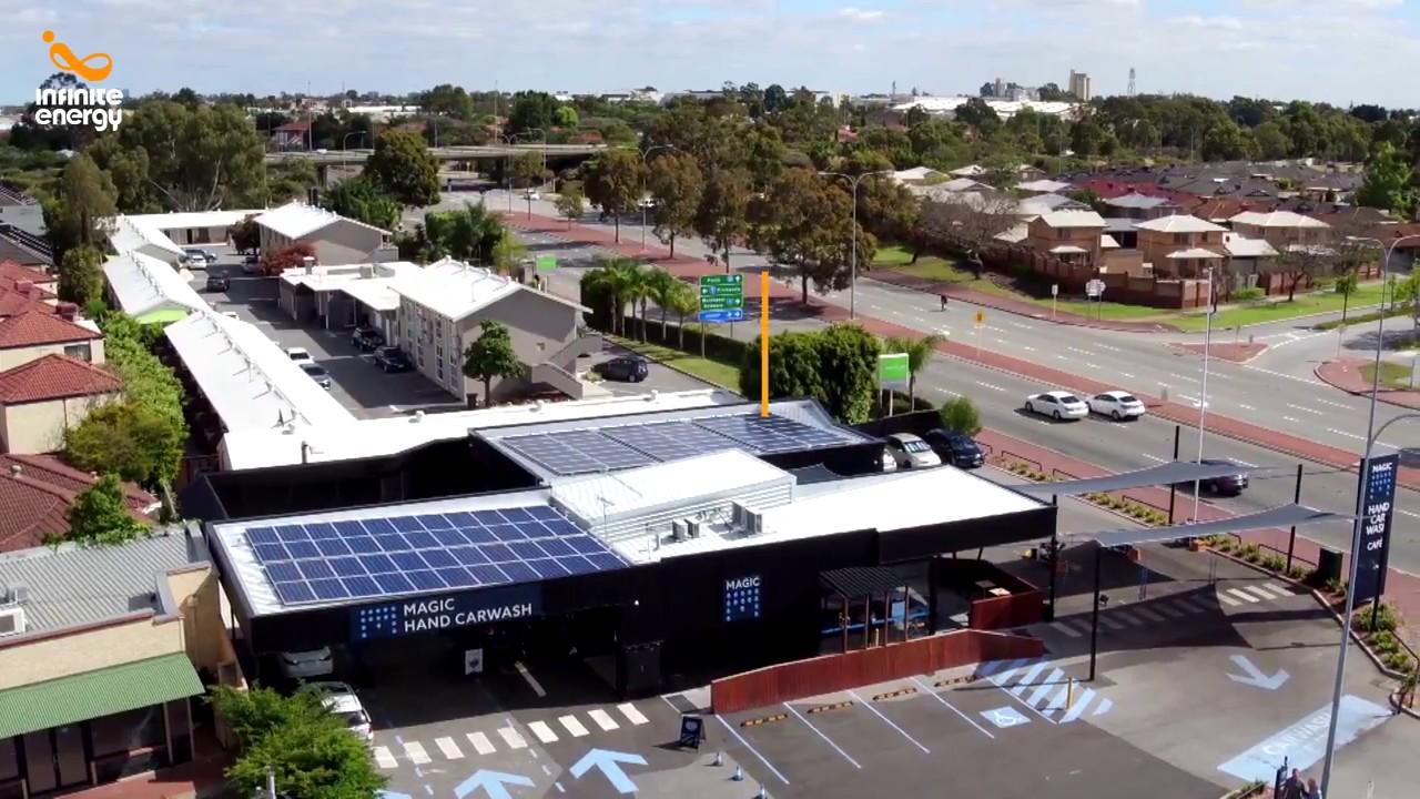Magic Hand Carwash Solar Installation Youtube