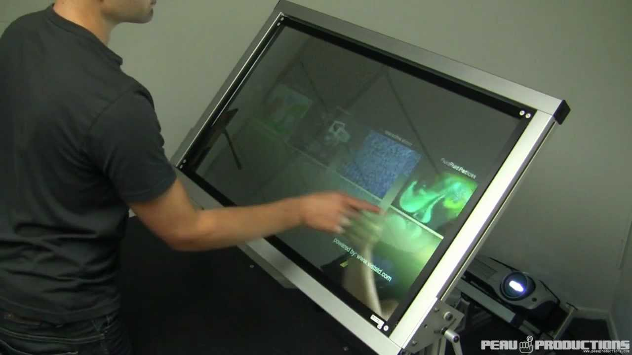 Mirror multitouch projection screen youtube for Mirror projector