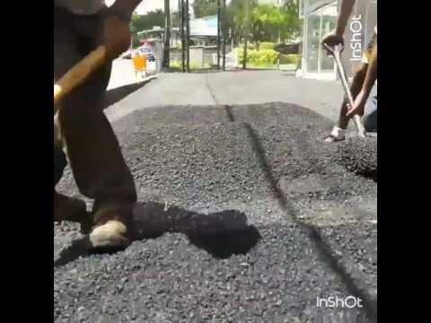 Asphalting work in Mauritius