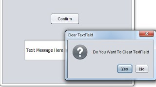 Java Confirmation Message Dialog Example