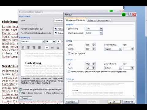 Inhaltsverzeichnis in Word 2007 erstellen.mp4
