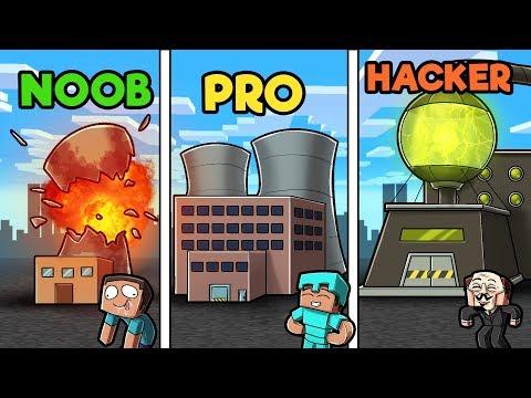 Minecraft - NUCLEAR POWER PLANT! (NOOB vs PRO vs HACKER)