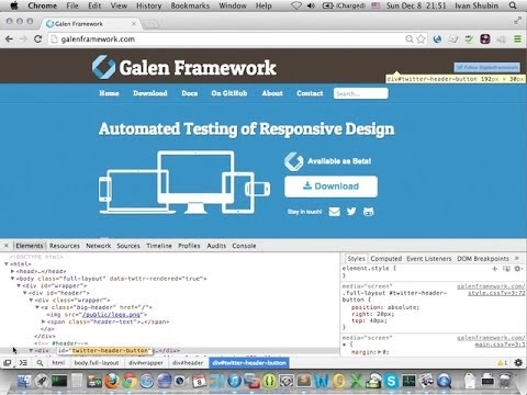 Galen Framework Introduction - Basic layout testing for responsive web page
