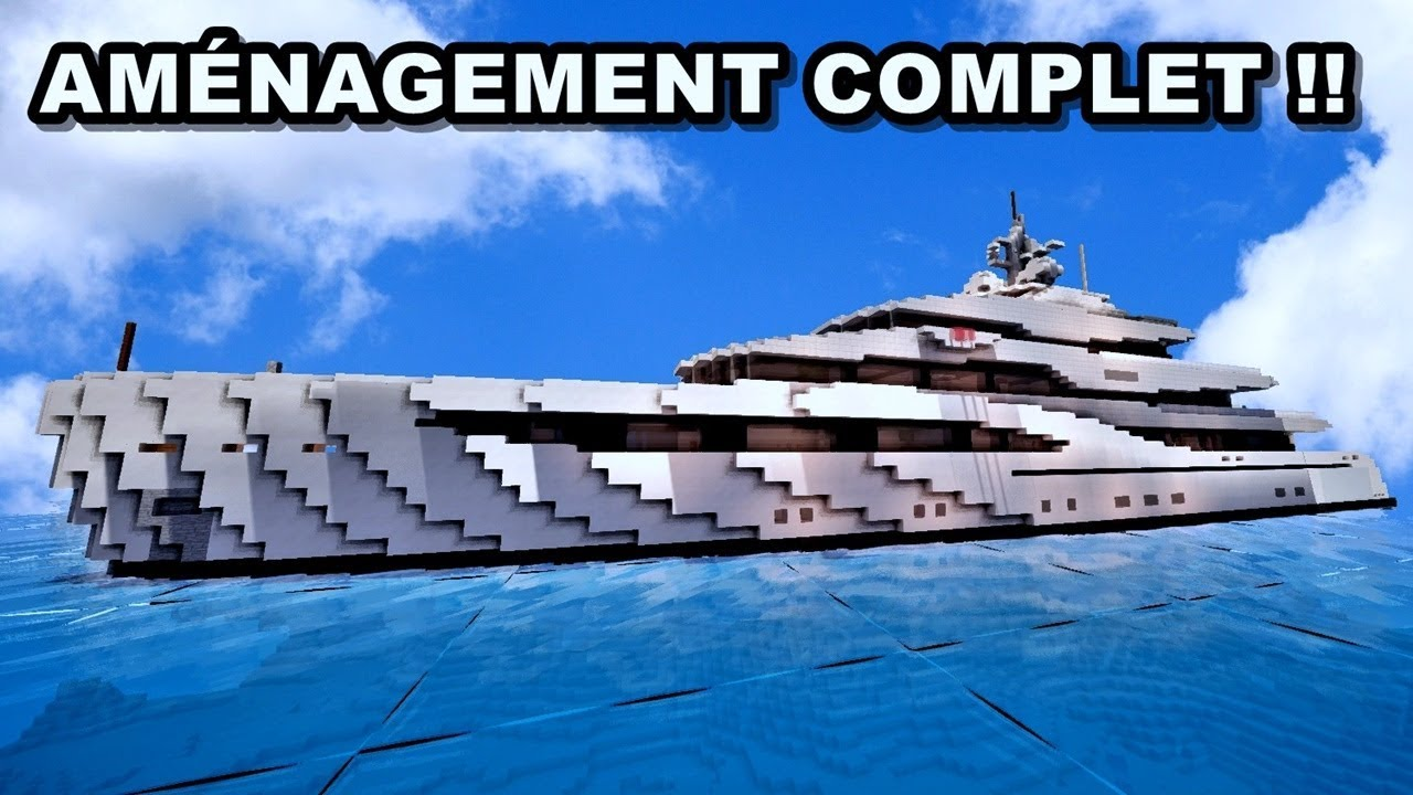 Aménagement Dun Yacht De Luxe Sur Minecraft