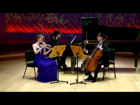 Music | Trio for Violin, Cello and Piano, Op.90 (1891) by Dvorák | 2016 National YoungArts Week