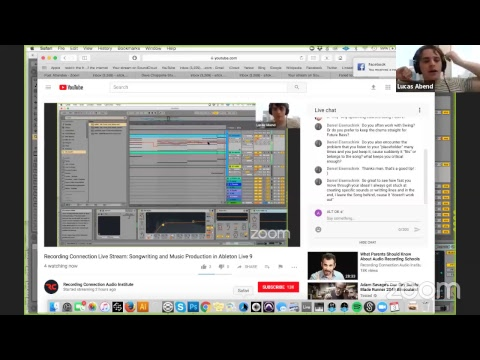 Music Production in Ableton Live 9 | Recording Connection Live Stream 1/3/18