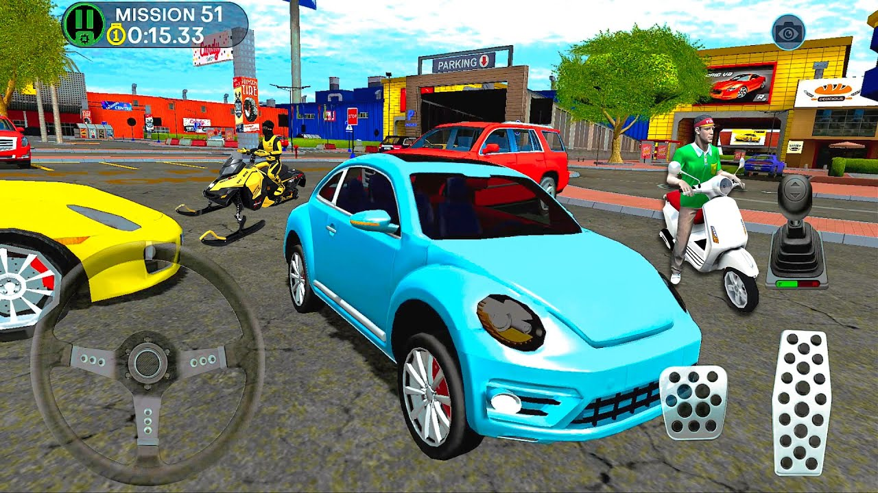 Shopping Mall Parking Lot #9 Driving Beetle Car! IOS Android gameplay