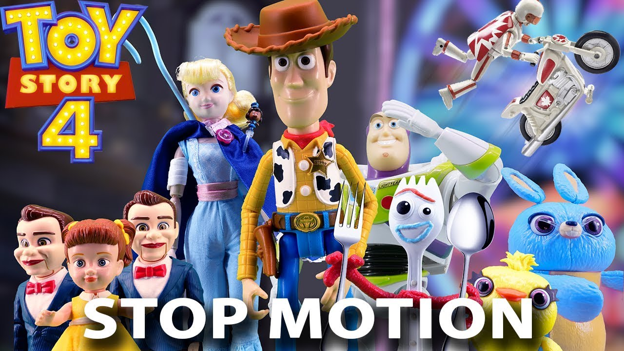 Toy Story 4 Toys Stop Motion Trailer Real Voices Youtube