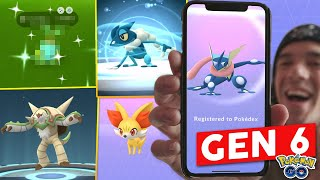 CATCHING ALL NEW GEN 6 IN POKÉMON GO! EVOLVING GRENINJA, CHESNAUGHT, & MORE KALOS POKÉMON!