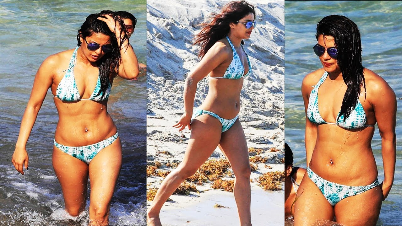 Priyanka Chopra Spotted In A Bikini On The Beach Of Miami - Youtube