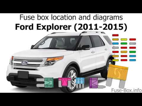Fuse box location and diagrams Ford Explorer (2011-2015) - YouTube