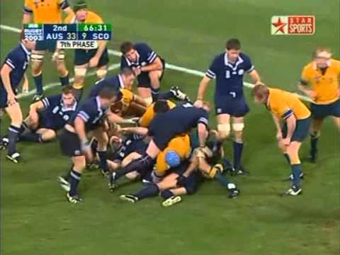 Rugby Union 2003 Quarter-final, Australia vs Scotland at Brisbane part 6.