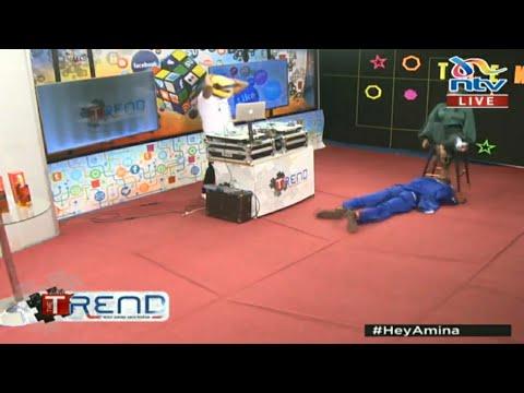 Download Embarambamba Karibu Amvue Nguo Amina kwenye The Trend Live kwa NTV || Security Wamtoa (Subscribe)