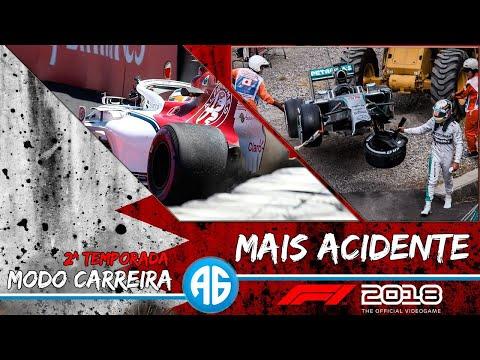 F1 2018 #23 GP DO BAHREIN - OS DEUSES DOS ACIDENTES ESTÃO DO NOSSO LADO! (Português-BR) 1080 60